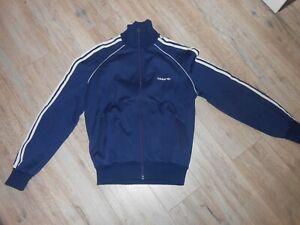 80s Adidas Trainingsjacke Gr 48 M Retro Tracksuit Vintage Oldschool ZX blau 2239