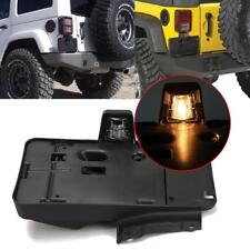 Rear License Plate Tag Mount Bracket Frame Holder w/ Light for Jeep Wrangler JK