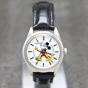 "Mickey Mouse ""Citizen Hand-Winding Japan Movement"" Men's Watch."