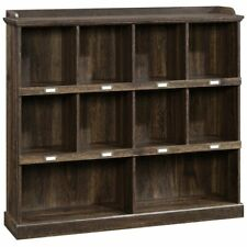 Sauder Barrister Lane 10 Cubby Bookcase in Iron Oak