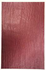 Écorce-grain cuir morceau de vachette, 1 @ 340 mm x 20 mm, 1.8 mm d'épaisseur Ox Blood