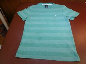 Nautica Boys  Stripe T Shirt Youth Large   14-16   FLAW     L5