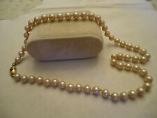 "Vintage MONET Hand Knotted Faux Pearl 16+"" Strand with Snap In Clasp"