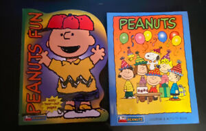 Peanuts Coloring Book and activity Lot of 2 unused.2003.
