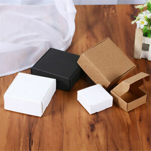 10x Kraft Paper Boxes for Small Gift Wedding Party Favors Candy Jewelry Packing