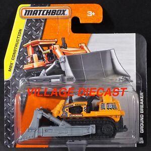 2015 Matchbox #36 Ground Breaker™ MATTE ORANGE / SHORT CARD / MOC