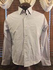 Men's EUC PROPER CLOTH Sz 16.5/42 Lavender/Green Panes LS Button Up Dress Shirt
