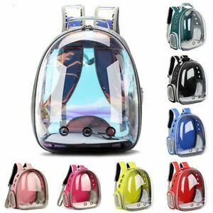 Pet Backpack Breathable Cat Transparent Capsule Portable Animal Care Carrier Bag