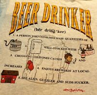 Beer Drinker Definition Tshirt Humerous XXL Gray