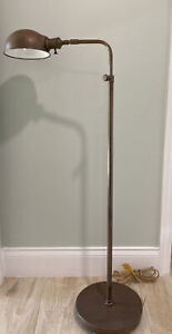 """Visual Comfort & Co. Pharmacy Industrial Adjustable Brass Lamp 37.5"""" - 53"""" Tall"""