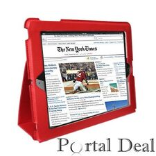 RED COVER CASE FOR APPLE IPAD 2 3G WIFI LEATHER SMART