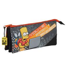 I Simpson Bart Simpson TRIPLO ASTUCCIO cancelleria scuola ufficio PUGNO