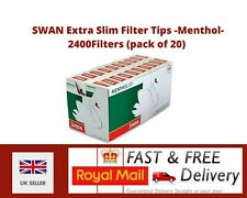 More details for swan extra slim filter tips - menthol- 120 filters/pack - 20packs(2400 filters)