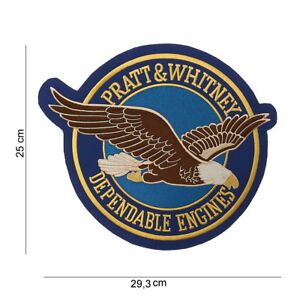 US Army WWII PATCH PRATT & WHITNEY DEPANDABLE ENGINES Paratrooper Eagle Large