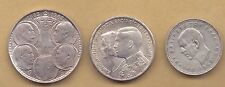 1963, 1964 Greece 30 drachmai, 1960 20 Dr. UNC silver set 1.20 Oz,  {GR0022}