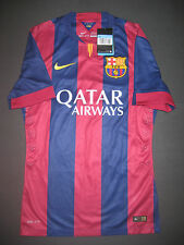 2014-2015 Nike Authentic FC Barcelona Match Home Jersey Shirt Kit Messi Neymar