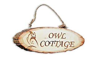 Personalised Wooden sign plaque custom bespoke made wall door laser engraved