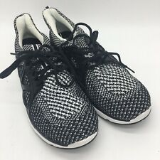 Avia Mania Running Shoes, Black/ White Woven Material, Size 9.5