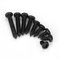 Black M3/M2/M2.6 Cross Pan Head Self Tapping Screws Set Assortment Kit New