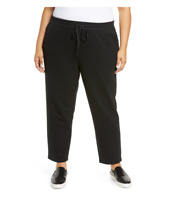NEW Eileen Fisher Organic Cotton Knit Twill Slouchy Ankle Pants - size 2X #P916