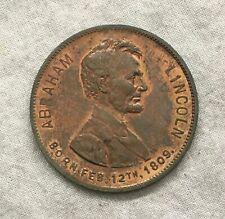 Abraham Lincoln Centennial, Boston Sunday American Medal, 1909