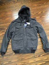 CSG Champs Sports Gear Black Sherpa Hoodie Full-Zip Up Jacket Men's Size Medium