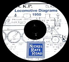 Nickel Plate Road 1950 Locomotive Diagram PDF Pages on DVD