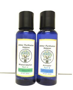 Water Purification Solution Chlorite NaClO2 2oz Citric Acid 2oz Disinfectant