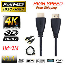 Premium HDMI Cable For Bluray 3D DVD PS3 HDTV XBOX LCD HD TV 1080P 1M/1.5M/2M/3M