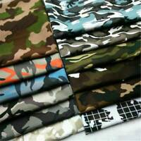 100% Cotton Poplin Camouflage Army Camo Print Fabric Quilting Sew By The Yard