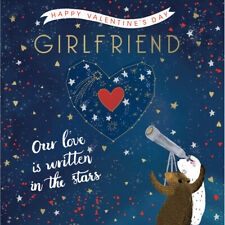 Girlfriend Written In The Stars Valentine's Day Greeting Card Valentines Cards