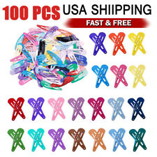 100PCS Solid Candy Color Barrettes for Girls Kids Snap Hair Clip kit Multi Color
