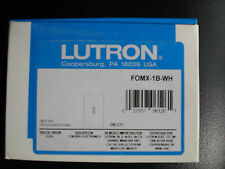 Lutron FOMX-1B-WH Switch / GRAFIK System or Softswitch128 system - NEW