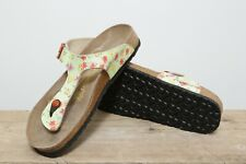 Women's Gizeh Birkenstock Papillio Green Flower Pattern Sandals UK Size 9