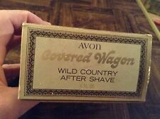 Avon cologne bottle covered wagon with box
