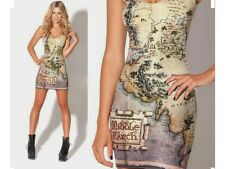 Black Milk BNWT THE HOBBIT MAP DRESS M - MIGHTY MIDDLE EARTH MUSEUM PIECE!🗺