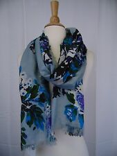 Big Buddha Metallic Floral Print Woven Fringe Scarf Multi Color #4118