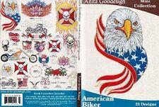 Anita Goodesign American Biker Embroidery Machine Design Cd New 38Maghd