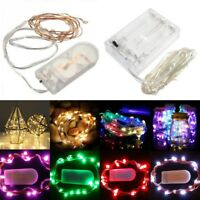 10/30/100 LED Battery Micro Rice Wire Copper Fairy String Lights Party white/rgb