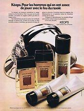 PUBLICITE ADVERTISING 114 1972 KEOPS pour les hommes