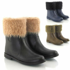 Fur Women's Pull On Rubber Boots