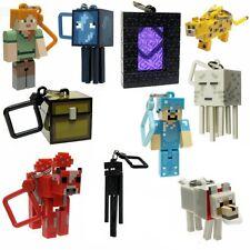 Minecraft 3D Clé chaîne lot de 10 porte-clés ceinture hangers jouets série 2