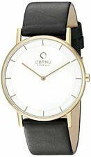 Obaku Men's Quartz 30m Yellow Gold Stainless Steel Watch With Free Obaku Pen