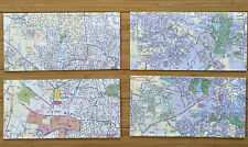 Recycled Map Envelopes Paper Stationery 4 Piece Lot