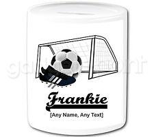 Personalised Gift Football Goal Money Box Boots Sport Goalkeeper Coach Present