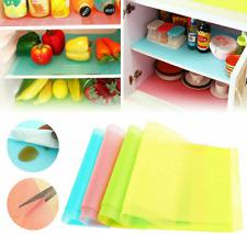 1,4 pcs Easy Clean Kitchen Antibacterial Cabinet Pad Anti Slip Fridge Liner Mat