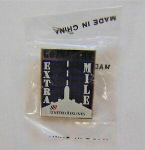 Vintage United Airlines Lapel Pin Tulip Logo Going the Extra Mile Employee Award
