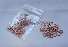 50 STÜCK Kupferringe Dichtringe Dichtungen Cu 5x9x1,0 mm DIN 7603 Form A