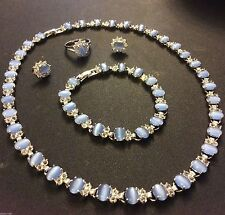 Crystal White Gold Filled Costume Jewellery Sets
