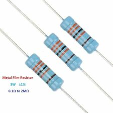 20PCS 3W Metal Film Resistor Tolerance ±1% Full Range of Values(0.1Ω to 2MΩ)